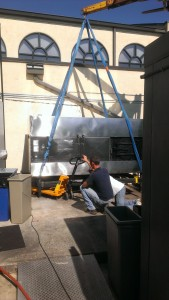 Hoisting the Smoker