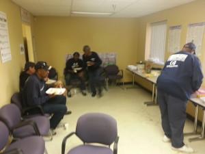 E.E. Ward drivers enjoy a breakfast buffet
