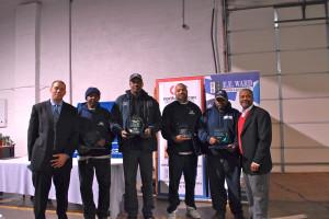From left: Brian Brooks, James Davis, Jerome Davis, Lavan Wilson, Raleigh Head, and Otto Beatty